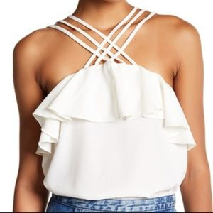 Romeo & Juliet Couture Strappy Tank Cami Ivory